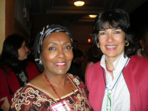 Christiane Amampour with Edna Adan