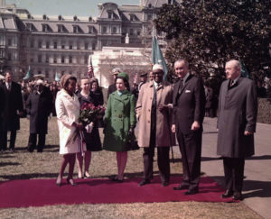 Edna Adan Egal with President Johnson