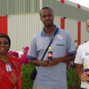 Christopher Stansfield with Edna at Coke plant