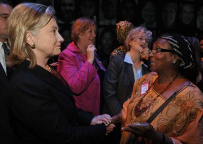 Hillary Clinton with Edna Adan