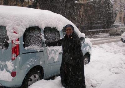 Edna in snowy Switzerland 2010