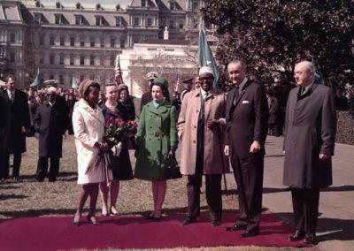 Edna Adan Egal with President Johnson