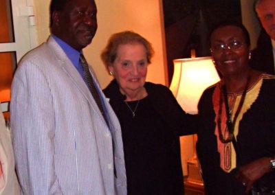 Madelaine Albright, President Odinga