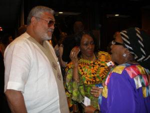 Ghana President Jerry Rawlings