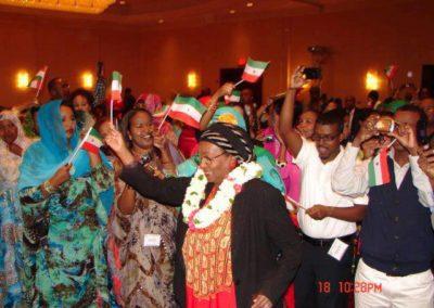 Edna dances at Somaliland Day